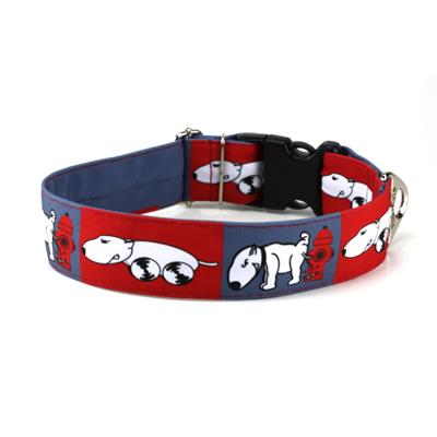 Collier BULL TERRIER rouge/gris